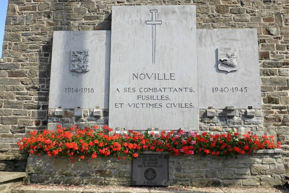 Monument Burgerslachtoffers Noville