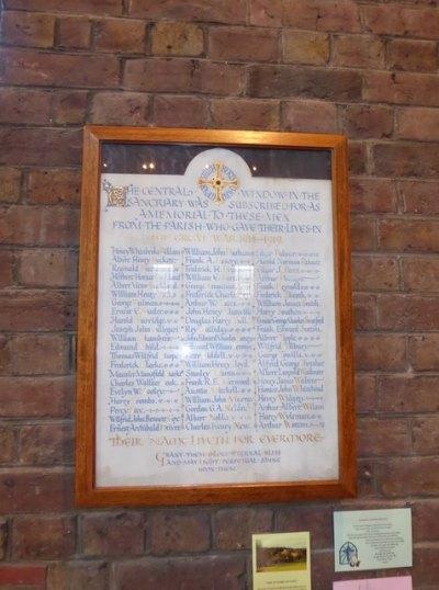 War Memorial St. Cuthbert Church Copnor