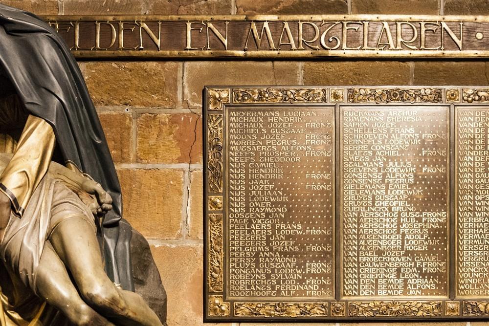 Gedenkplaat Onze-Lieve-Vrouwekerk Aarschot