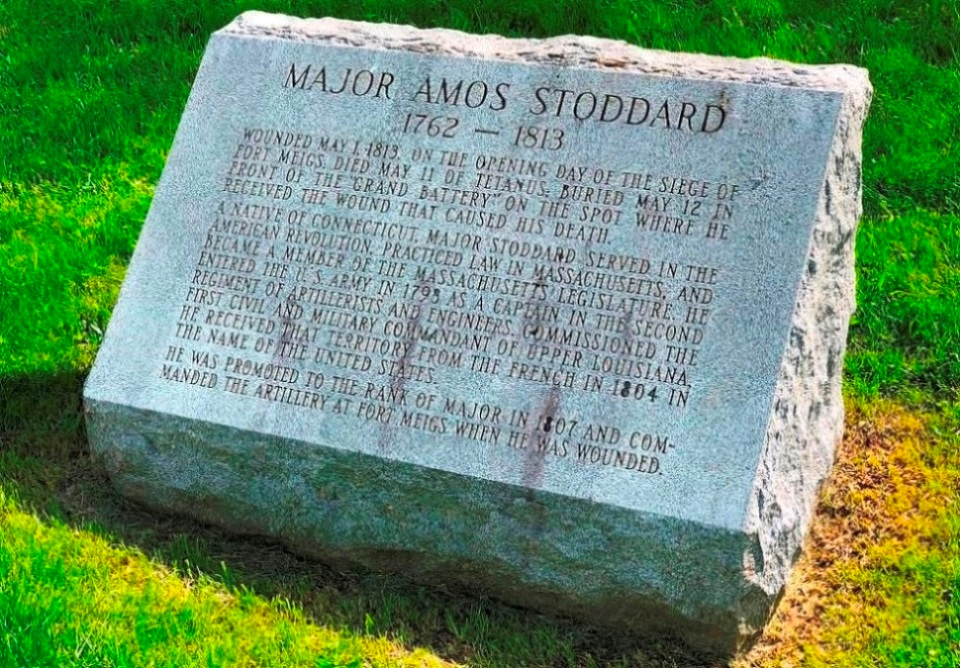 Graf van Major Amos Stoddard