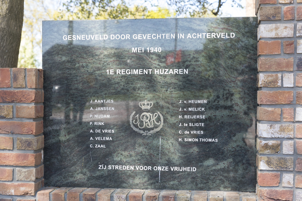 Monument 1e Regiment Huzaren Achterveld