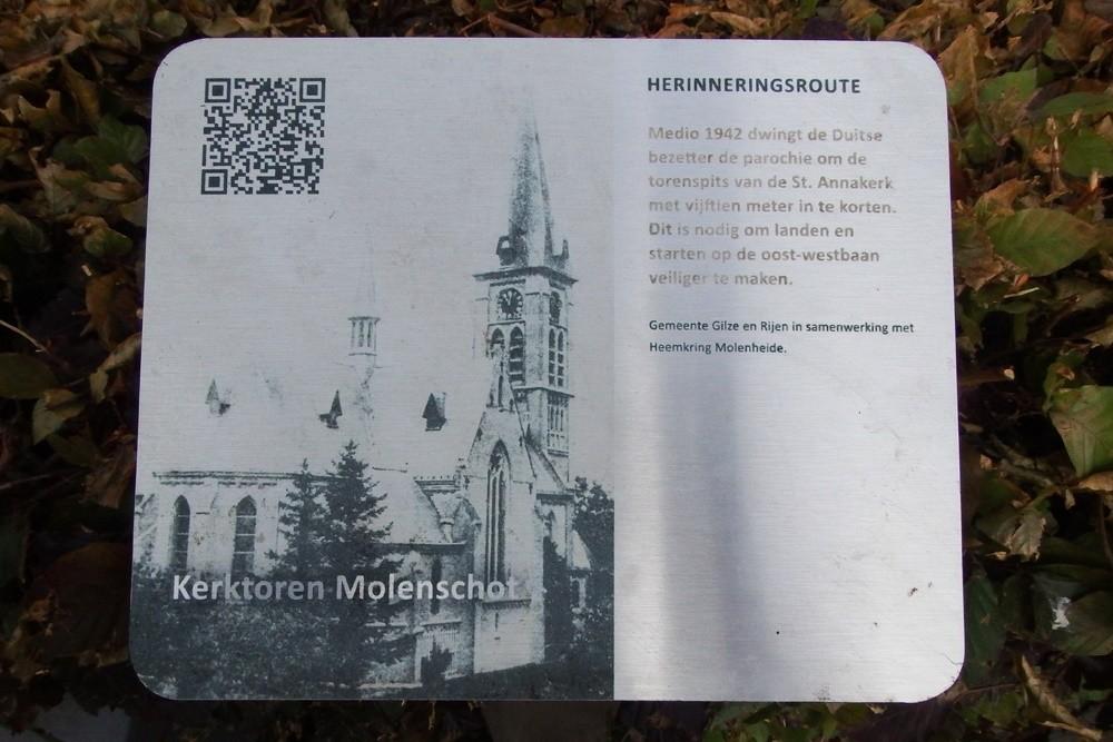 Herinneringsroute Tweede Wereldoorlog Kerktoren Molenschot Ingekort