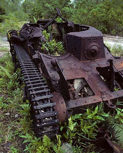 Remains Japanese Type 95 Ha-Go Tank