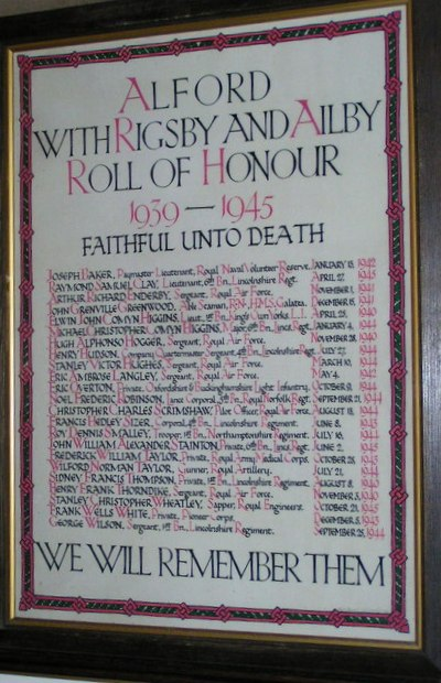 War Memorial St Wilfrid Church