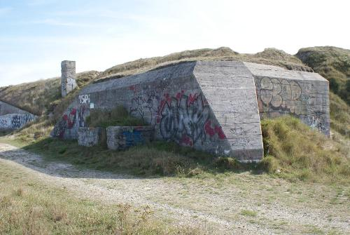 German Bunkers and Wall at Grind Mill Tréguennec