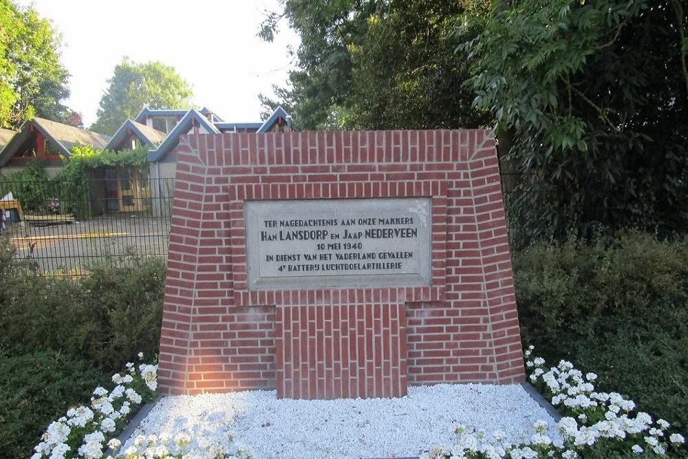 Monument Nederlandse soldaten Smitshoek