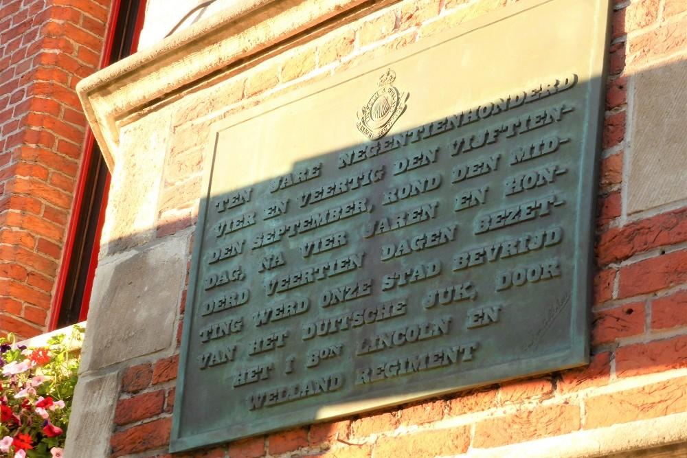Gedenkplaten Belfort Eeklo