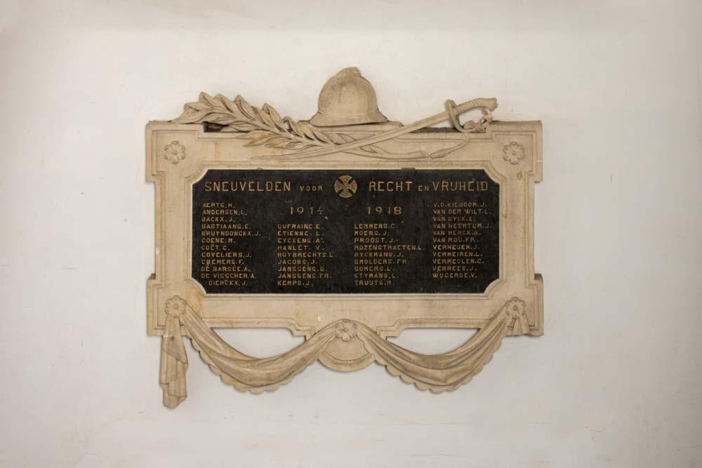 Gedenksteen Gesneuvelde Oud-Leerlingen Sint-Victorinstituut Turnhout