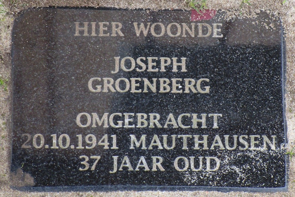 Remembrance Stone Hoogstraat 37