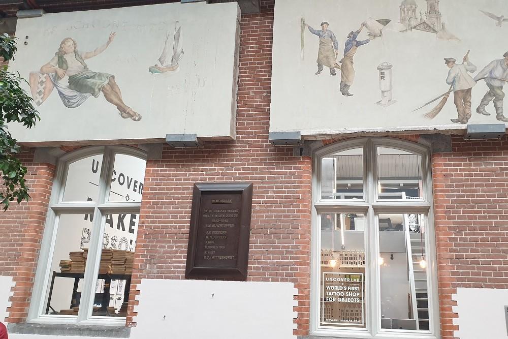 Plaquette Oorlogsslachtoffers Stadsreiniging Amsterdam