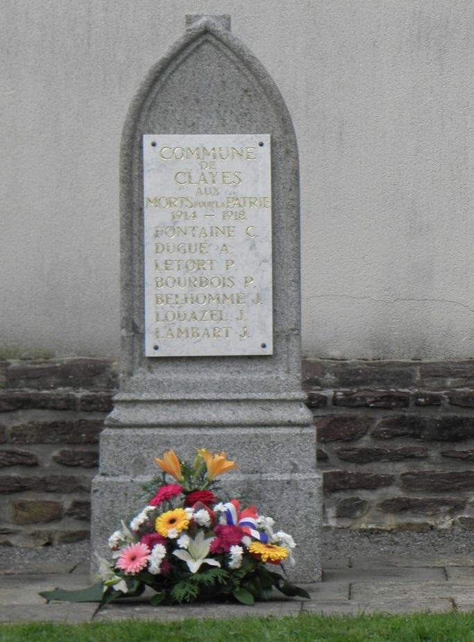 War Memorial Clayes & Memorial Crash 29 Mei 1943