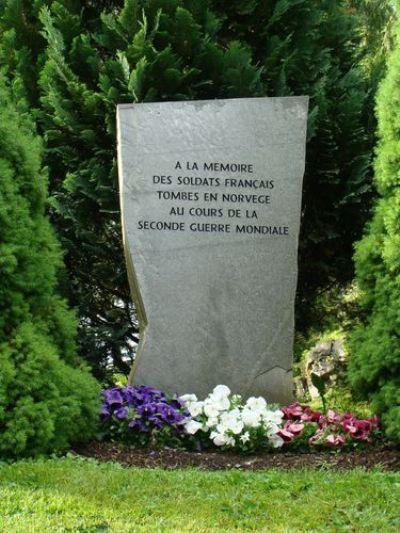 Monument in Noorwegen Gesneuvelde Franse Soldaten