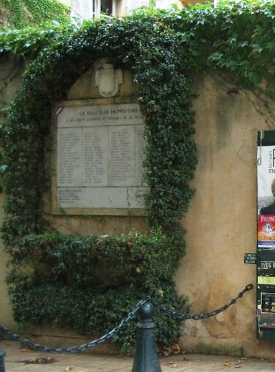Resistance Memorial Aix-en-Provence