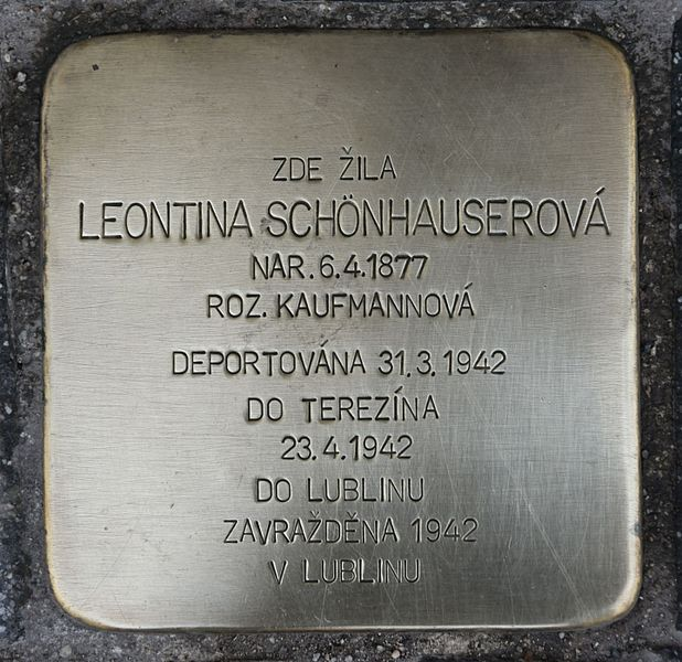 Remembrance Stone tř. Kpt. Jaroše 37