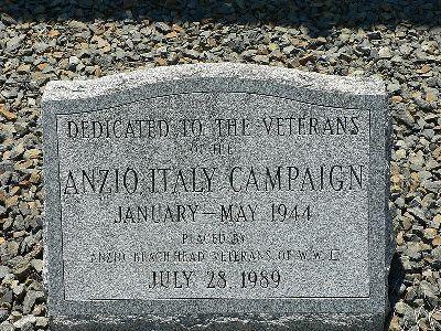 Memorial Veterans Anzio Campaign