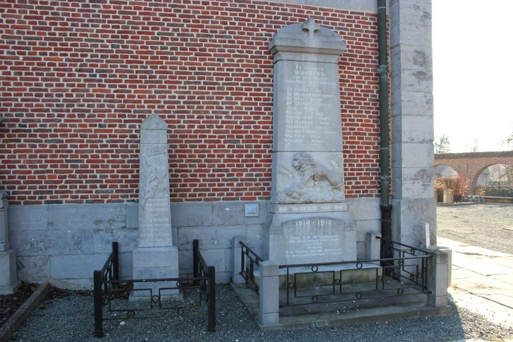 War Memorial & Memorial Pvt. Brown Wambeek