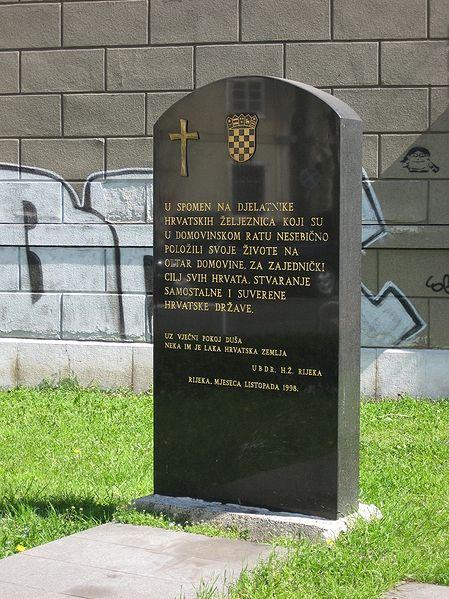 Monument Onafhankelijkheidsoorlog Kroatische Spoorwegen