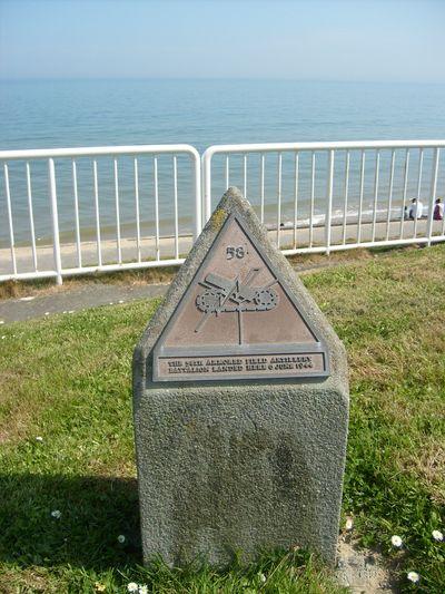 Monument 58th Armored Field Batallion Vierville-sur-Mer