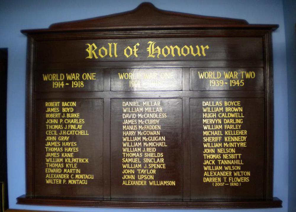 Oorlogsmonument Royal British Legion Hall