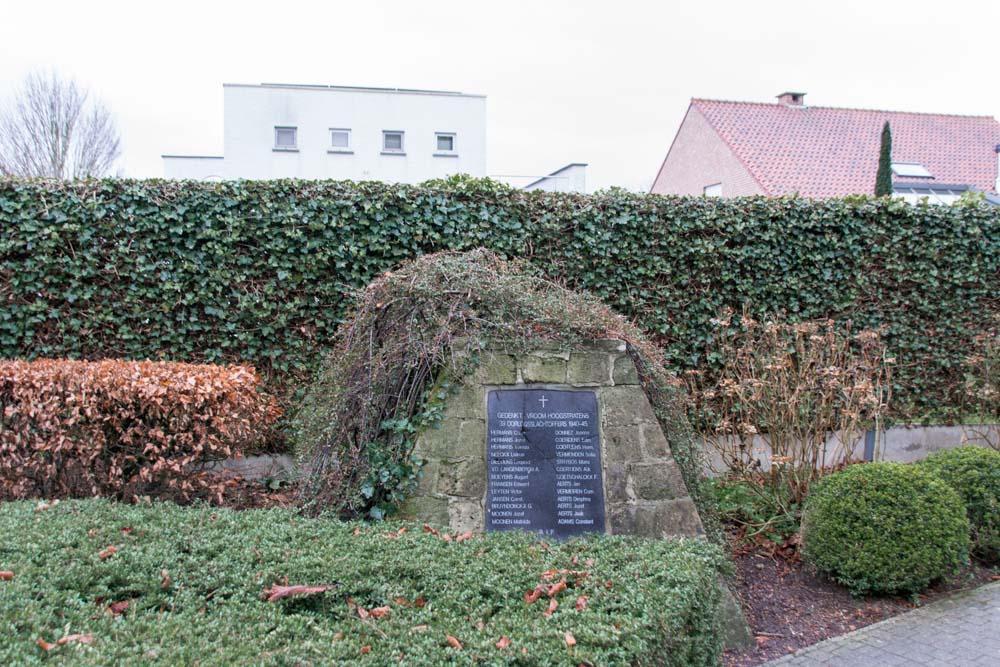 Gedenkteken 39 Oorlogsslachtoffers 40-45 Hoogstraten