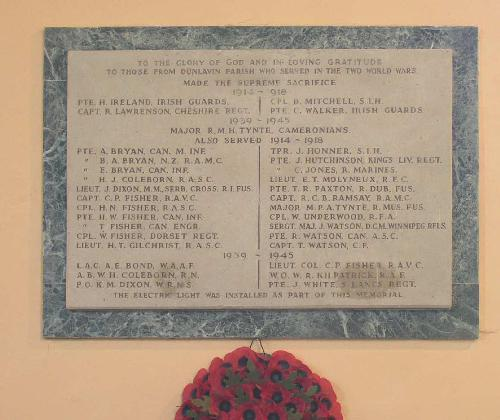 War Memorial St Nicholas Church Dunlavin