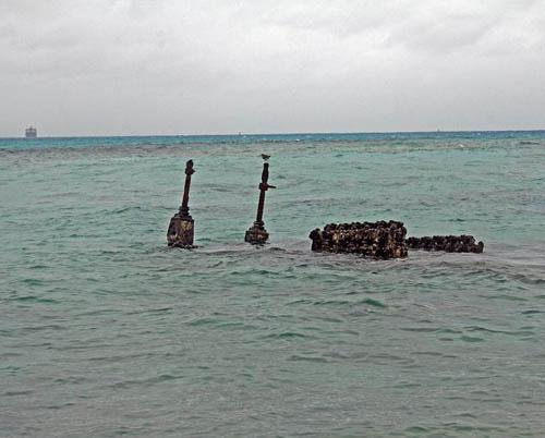 Wreckage LVT(A)-1 Landing Vehicle Managaha