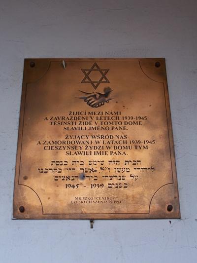 Holocaust Plaquette Český Těšín