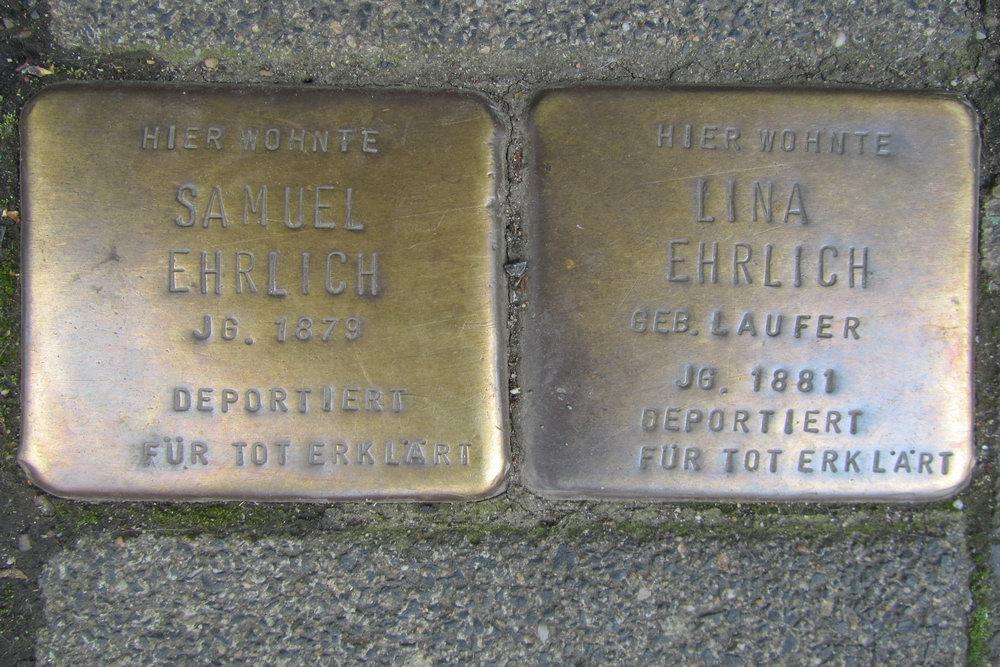 Stolpersteine Bismarckstraße 37
