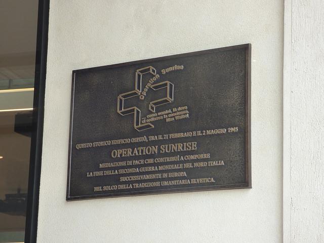 Plaque Operation Sunrise