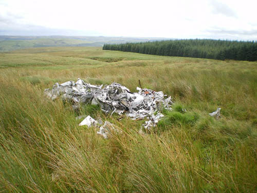 Crash Site & Wreckage Lancaster Bomber Dolwen