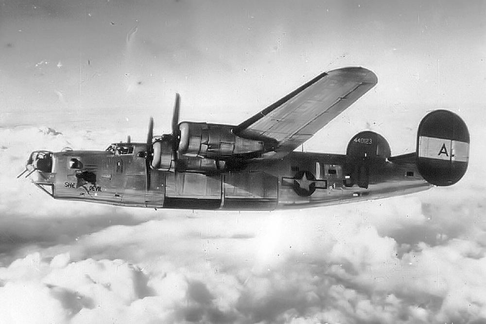Crashlocatie B-24D-10-CO Liberator 41-23908