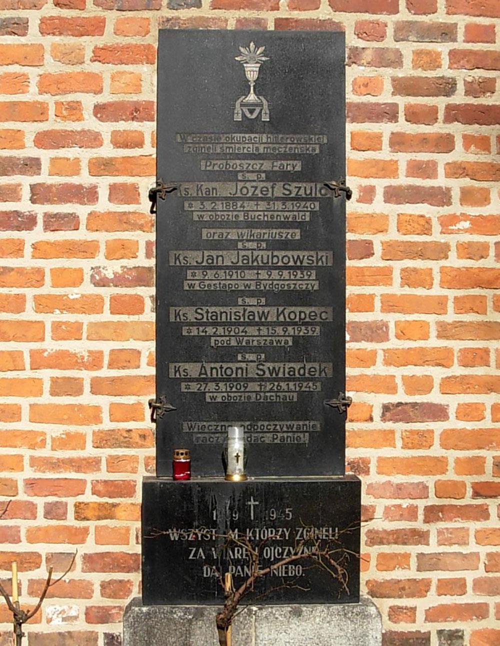 Plaque Murdered Priests 1939-1945