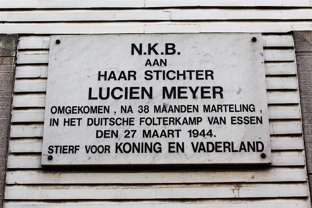 Gedenkplaat Lucien Meyer Aarschot