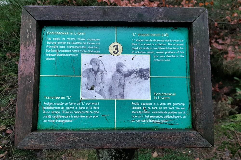 Herinneringsplaats Hasselpath Positie 3. Schutterskuil in L-vorm