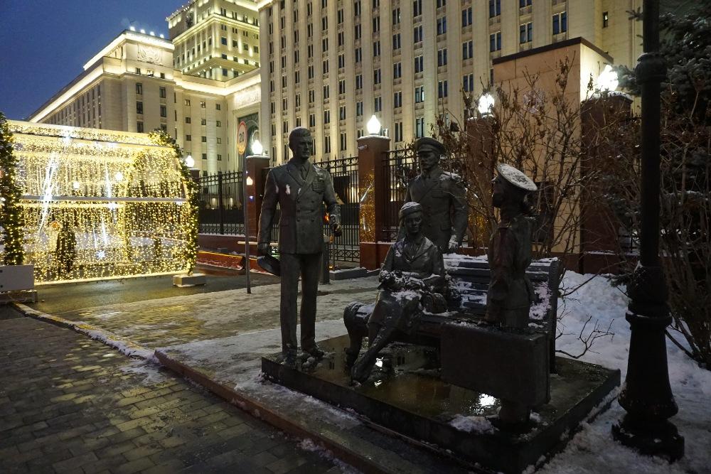 Monument Sovjetfilm 'Officieren'