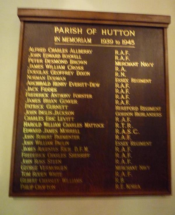 War Memorial Parish of Hutton