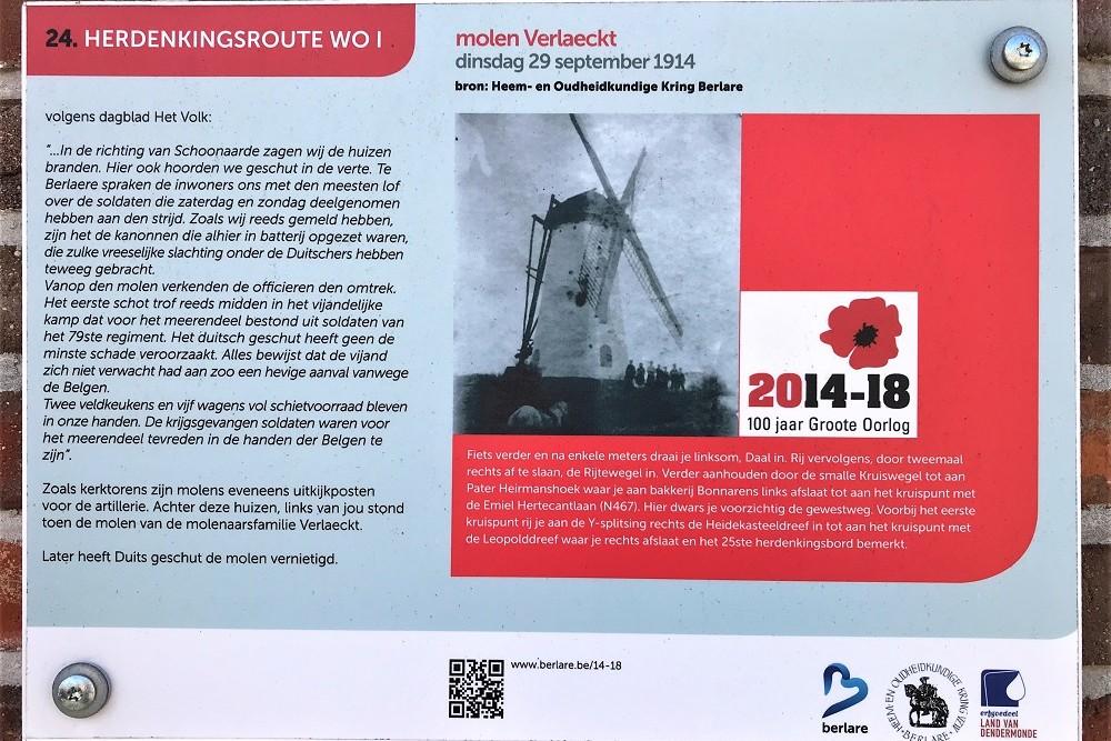 Herdenkingsroute 100 jaar Groote Oorlog - Informatiebord 24