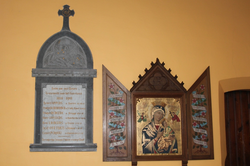 Commemorative Plate First World War Maldegem Donk