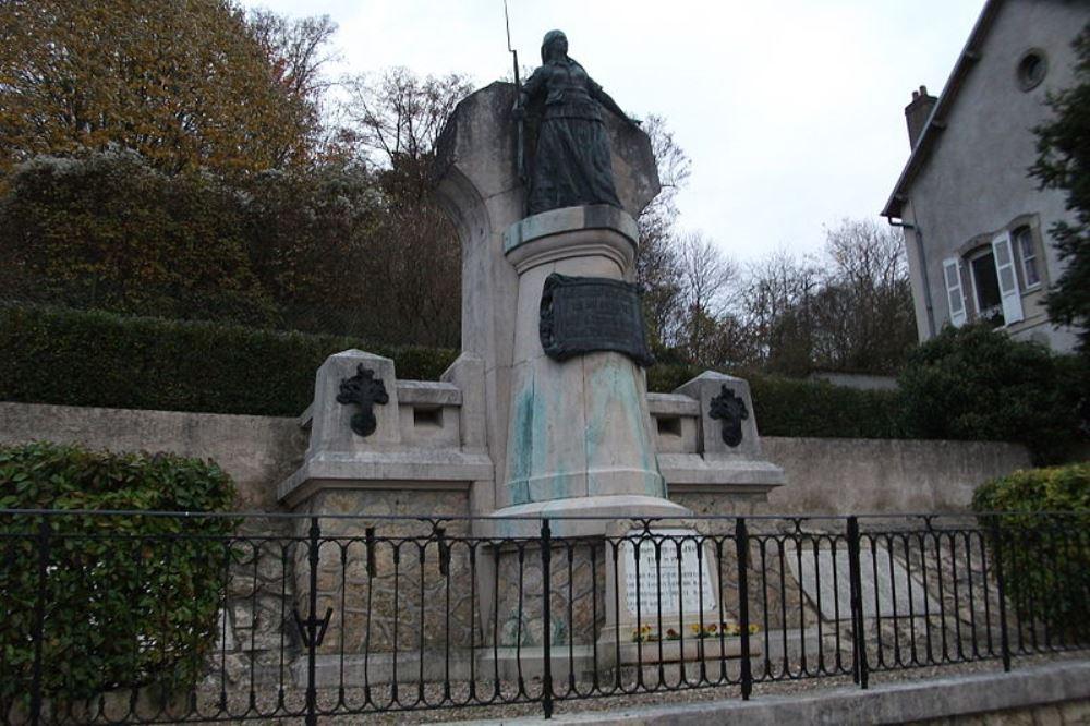 Monument Gevecht 22 Januari 1871 en WO1-monument Fontenoy-sur-Moselle