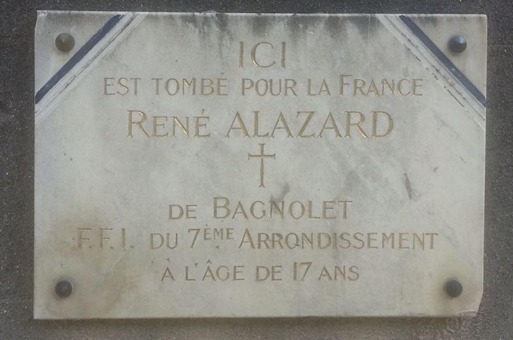 Plaque René Alazard