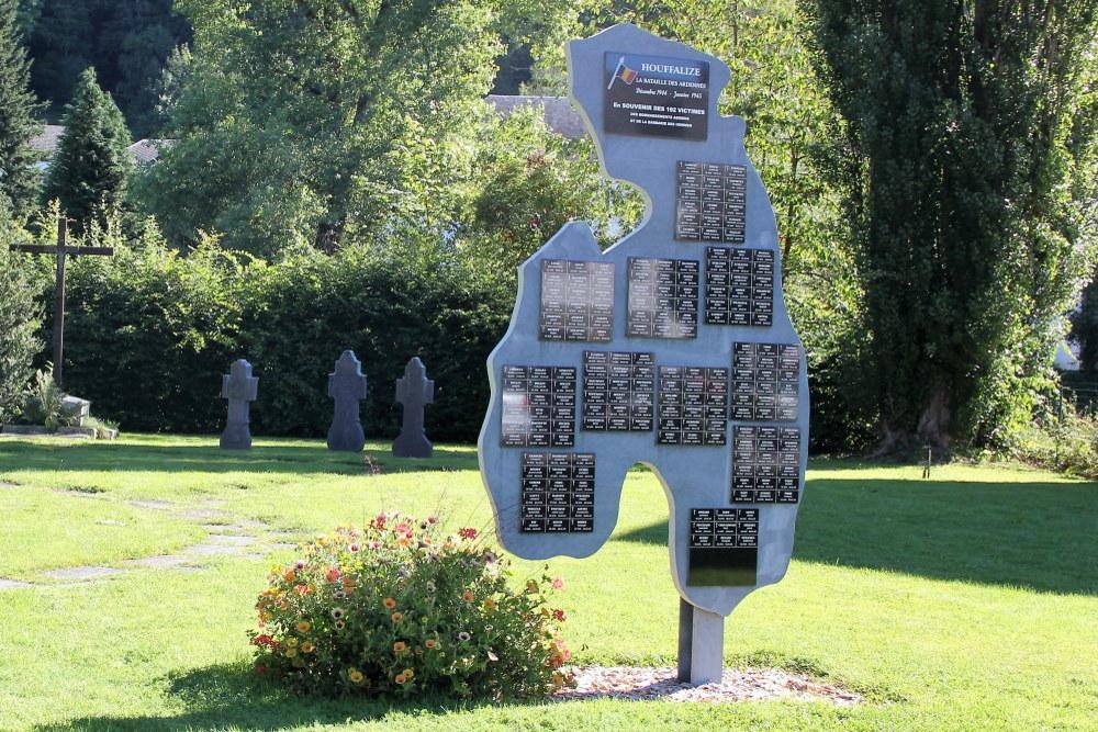 Monument Burgerslachtoffers Slag om de Ardennen Houffalize