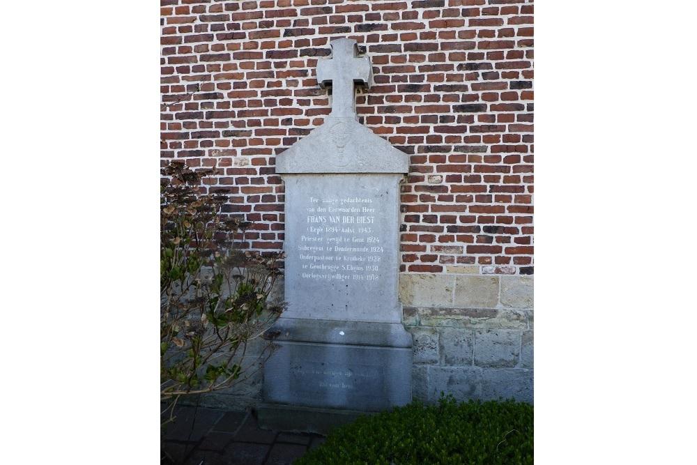 Gedenksteen Frans Van Der Biest