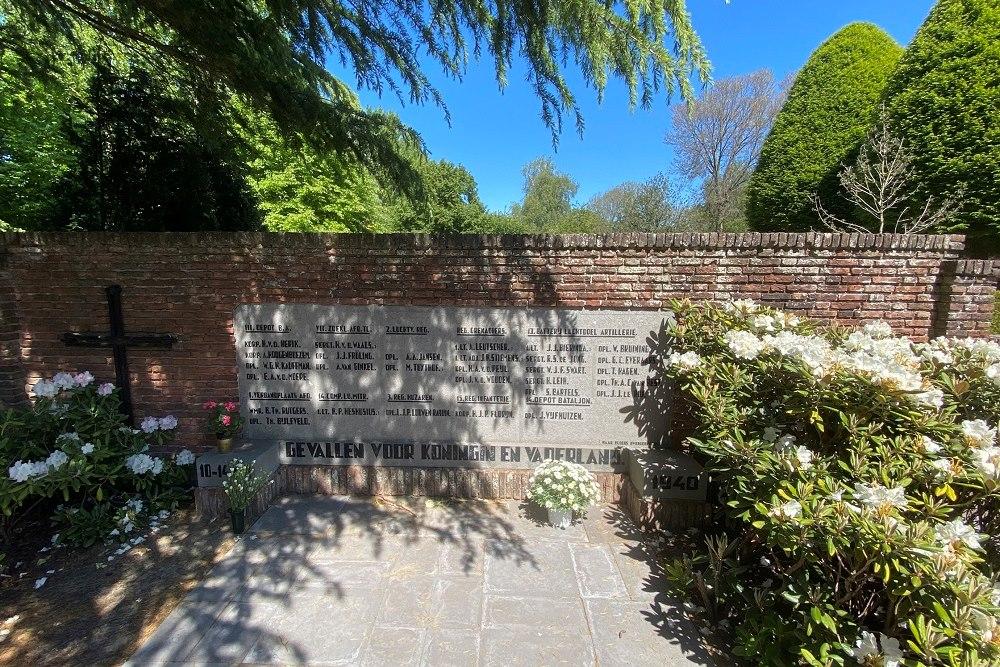 Dutch War Graves Eastern Cemetery Voorburg