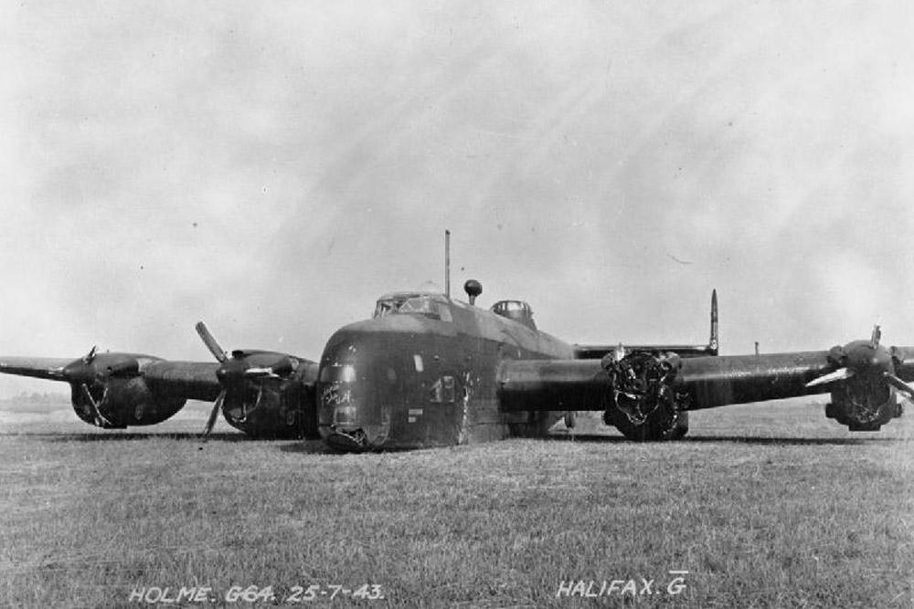 Crash Site Handley Page Halifax B Mark II DK148 'MP-G'