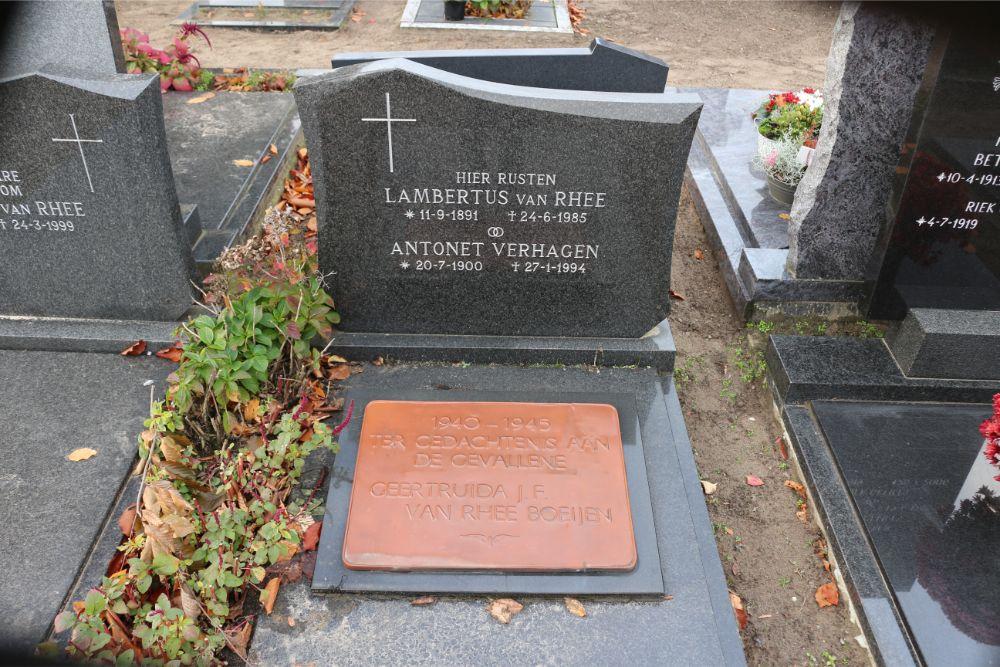 Plaque Killed NS Employee Roman Catholic Cemetery Schijndel