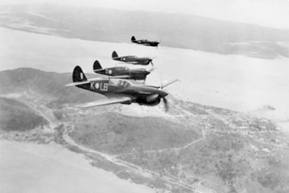 Crashlocatie & Restant P-40E-1 Kittyhawk # A29-110
