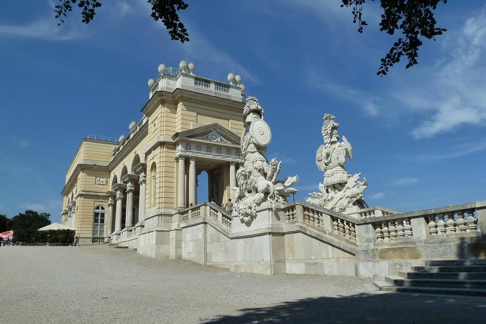 Oorlogsschade Gloriette Schönbrunn Wenen
