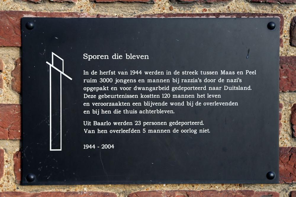 Monument 'Sporen die Bleven' Baarlo