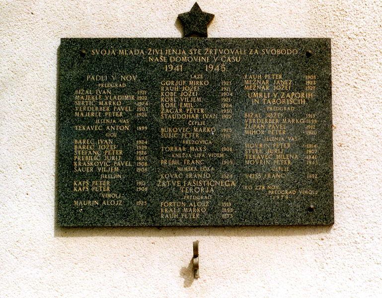 War Memorial Predgrad