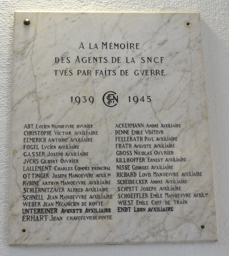 Plaques Gare de Sarrebourg